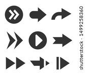 black arrows icons isolated ob...   Shutterstock .eps vector #1499258360