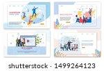 advertising poster corporate... | Shutterstock .eps vector #1499264123
