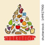 nutrition design over pink... | Shutterstock .eps vector #149927900