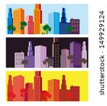 city design over colorful... | Shutterstock .eps vector #149929124