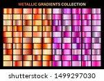 pink and bronze  orange glossy...   Shutterstock .eps vector #1499297030
