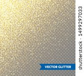 sparkling golden glitter on... | Shutterstock .eps vector #1499297033
