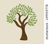 tree natural design over beige... | Shutterstock .eps vector #149929778