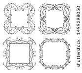 floral filigree frames set.... | Shutterstock .eps vector #1499298050
