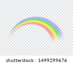 rainbow icon isolated on... | Shutterstock .eps vector #1499299676