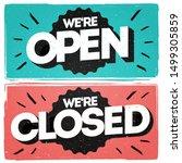 vector lettering we're open... | Shutterstock .eps vector #1499305859