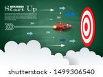 paper art style of rocket... | Shutterstock .eps vector #1499306540
