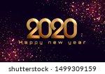 bokeh sparkle christmas 2020... | Shutterstock .eps vector #1499309159
