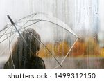 A woman silhouette with...