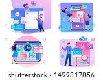 set flat 2d concepts web design ... | Shutterstock .eps vector #1499317856