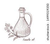 vector drawing canola oil ... | Shutterstock .eps vector #1499319350