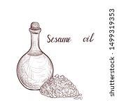 vector drawing sesame oil ... | Shutterstock .eps vector #1499319353
