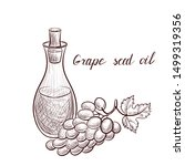 vector drawing grape seed oil ... | Shutterstock .eps vector #1499319356