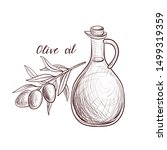 vector drawing olive oil ... | Shutterstock .eps vector #1499319359