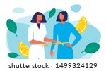 woman nutritionist in white...   Shutterstock .eps vector #1499324129