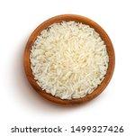 Basmati Rice Groats In A Woode...