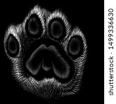 The Vector Logo Paw For T Shirt ...