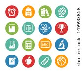 back to school. web icons set | Shutterstock .eps vector #149933858