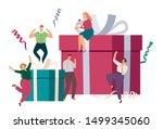 gift box. happy surprised... | Shutterstock .eps vector #1499345060