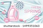 fabric softener bottle with... | Shutterstock .eps vector #1499351063