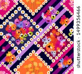 scarf pattern with colorful...   Shutterstock .eps vector #1499356466