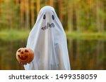 Waist Up Portrait Of Spooky...