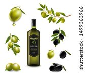 big set with branch olives and...   Shutterstock . vector #1499363966