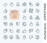 hands gesture   minimal thin... | Shutterstock .eps vector #1499374400