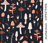 Seamless Jungle Pattern With...