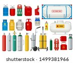 propane tanks. gas safety... | Shutterstock .eps vector #1499381966