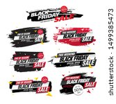 black friday sale banners set ... | Shutterstock .eps vector #1499385473