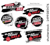 black friday sale banners set ... | Shutterstock .eps vector #1499385476