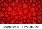 decorative christmas background ... | Shutterstock . vector #1499388320