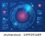 sci fi hologram control panel... | Shutterstock .eps vector #1499391689