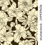 floral seamless pattern on dark ... | Shutterstock . vector #149939636