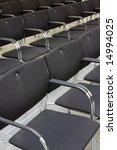 black chairs in a row of an... | Shutterstock . vector #14994025