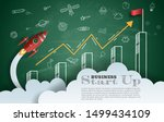 paper art style of rocket with...   Shutterstock .eps vector #1499434109
