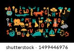 english alphabet with cute... | Shutterstock .eps vector #1499446976