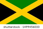 jamaica original flag. vector... | Shutterstock .eps vector #1499456033