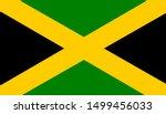 the national flag of jamaica.  | Shutterstock .eps vector #1499456033