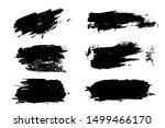 collection of black paint  ink...   Shutterstock .eps vector #1499466170
