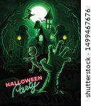 horror scene with zombies for... | Shutterstock .eps vector #1499467676