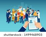 recruitment of a job candidate... | Shutterstock .eps vector #1499468903
