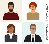 male and female avatars. set of ... | Shutterstock .eps vector #1499471636
