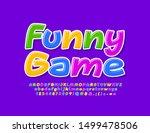 vector bright banner funny game ... | Shutterstock .eps vector #1499478506