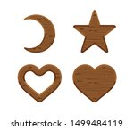 Wooden Crescent Moon  Star Wood ...