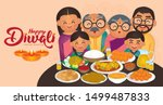 diwali deepavali vector... | Shutterstock .eps vector #1499487833