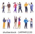 different greetings flat vector ... | Shutterstock .eps vector #1499491133