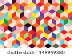 colorful box pattern abstract...   Shutterstock .eps vector #149949380