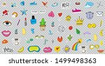 big set of patches elements... | Shutterstock . vector #1499498363